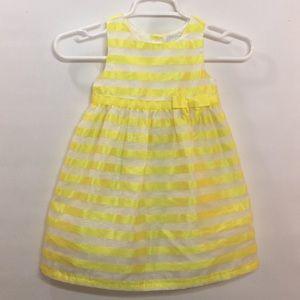 3T Girls Gyrmboree Yellow White Stripe Lined Dress